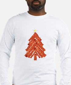 Bacon Christmas Tree Long Sleeve T-Shirt