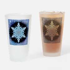 August Snowflake - square Drinking Glass