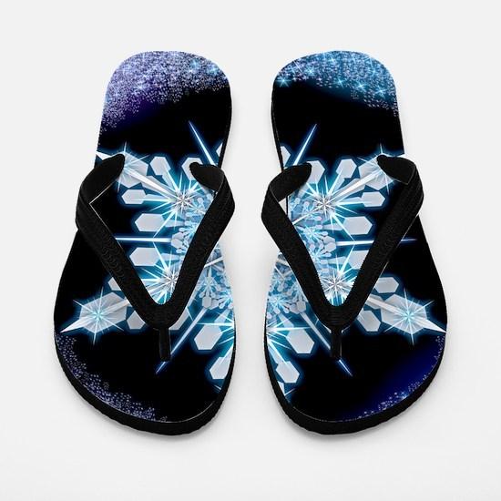 August Snowflake - square Flip Flops
