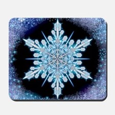 August Snowflake - square Mousepad
