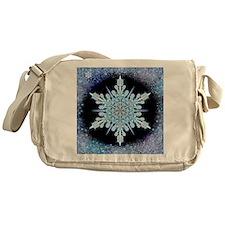 August Snowflake - square Messenger Bag