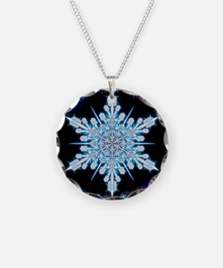 August Snowflake - square Necklace