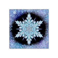 "August Snowflake - square Square Sticker 3"" x 3"""