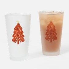 Bacon Christmas Tree Drinking Glass