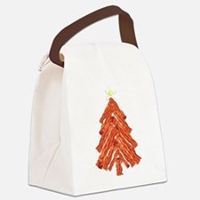 Bacon Christmas Tree Canvas Lunch Bag