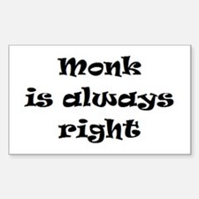 monk always right Decal