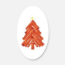 Bacon Christmas Tree Oval Car Magnet