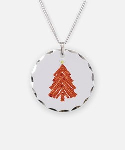 Bacon Christmas Tree Necklace