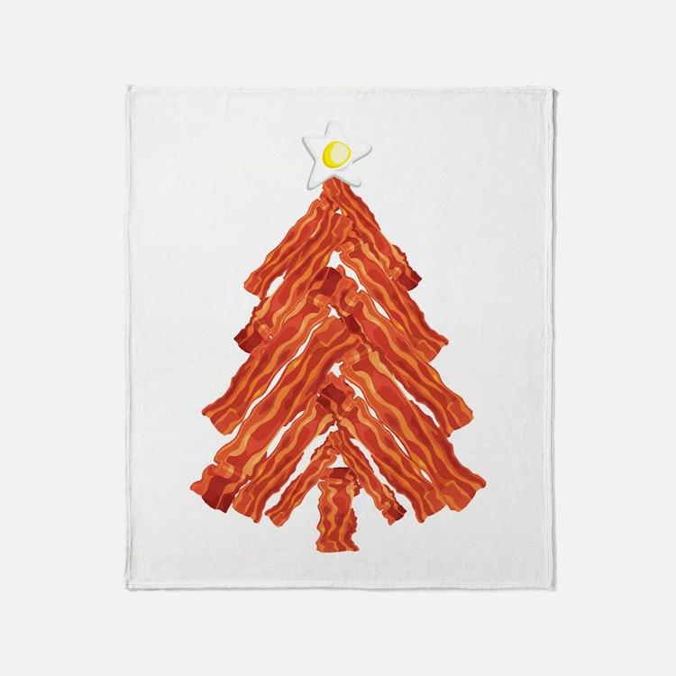Bacon Christmas Tree Throw Blanket