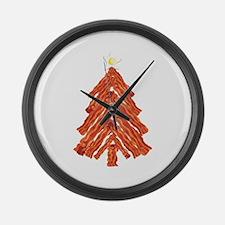 Bacon Christmas Tree Large Wall Clock