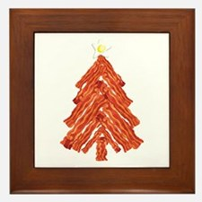 Bacon Christmas Tree Framed Tile