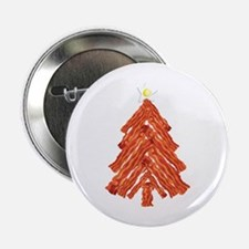 """Bacon Christmas Tree 2.25"""" Button (100 pack)"""