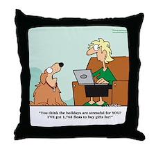 FleasNavidad Throw Pillow