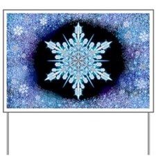 August Snowflake - wide Yard Sign
