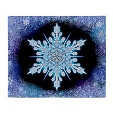 August Snowflake - wide Throw Blanket