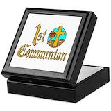 Catholic 1st communion Square Keepsake Boxes