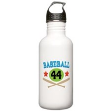 Baseball Player Number 44 Water Bottle