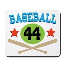 Baseball Player Number 44 Mousepad