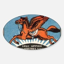 Antique India Flying Horse Matchbox Decal