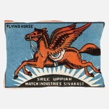 Antique India Flying Horse Matchbox La Pillow Case