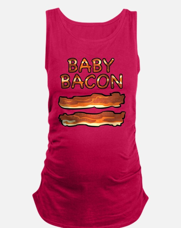 Baby Bacon Maternity Tank Top