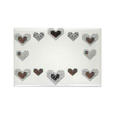 Autism With Heart Rectangle Magnet