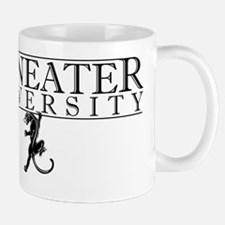 Maneater University wordmark with cat d Mug