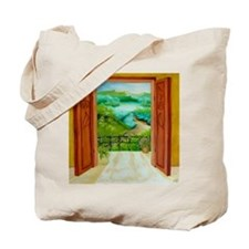 balcony shower curtain Tote Bag