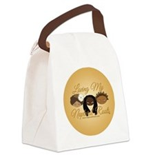 LMNR Gold Button Canvas Lunch Bag