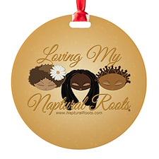 LMNR Gold Button Ornament