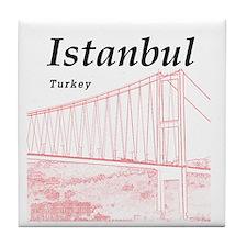 Istanbul_10x10_BosphorusBridge_v2_Red Tile Coaster