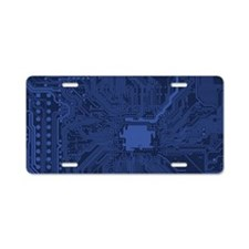Geek Blue Motherboard Aluminum License Plate