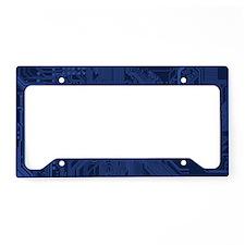 Geek Blue Motherboard License Plate Holder
