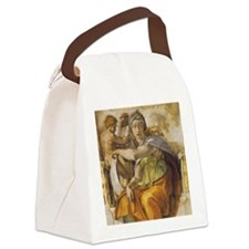 Michelangelo Delphic Sibyl Canvas Lunch Bag