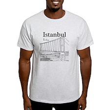 Istanbul_10x10_BosphorusBridge_v1_Bl T-Shirt