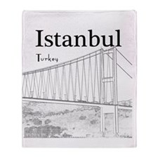 Istanbul_10x10_BosphorusBridge_v1_Bl Throw Blanket