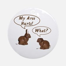 The Chocolate Bunny Ornament (Round)