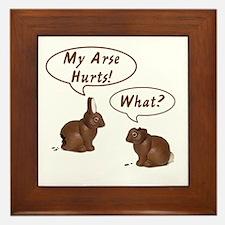 The Chocolate Bunny Framed Tile