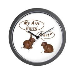The Chocolate Bunny Wall Clock