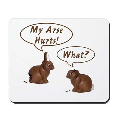 The Chocolate Bunny Mousepad