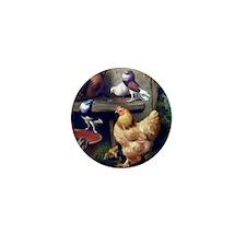Doves Ducklings Hen Mini Button