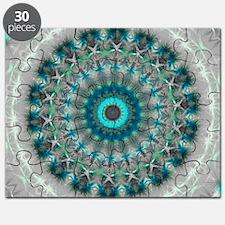 Blue Earth Mandala Puzzle