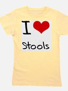 I love Stools Girl's Tee