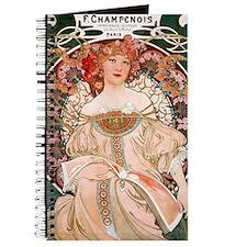 Mucha Paris woman in pink dress Journal