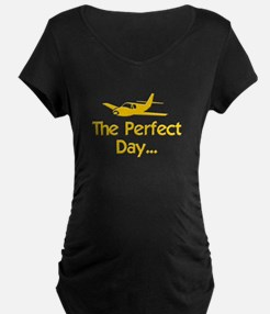 pilot airplane flying Maternity T-Shirt