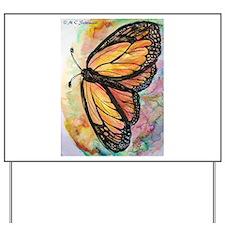 Orange Butterfly! Nature art! Yard Sign