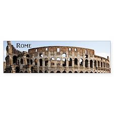 Rome_4x9.25_FlatCard_Colosseum Bumper Sticker