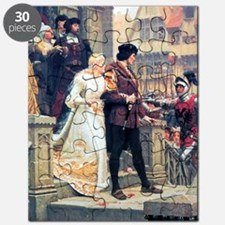 Medieval church wedding painting Puzzle