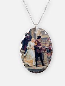 Medieval church wedding painti Necklace