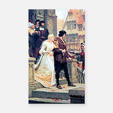 Medieval church wedding paint Rectangle Car Magnet